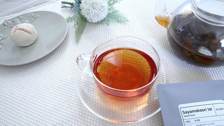 【おうちで和紅茶】和菓子と「坂本園 さやまかおり1st 2019」
